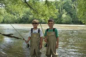 Gatlinburg Fly Fishing for kids
